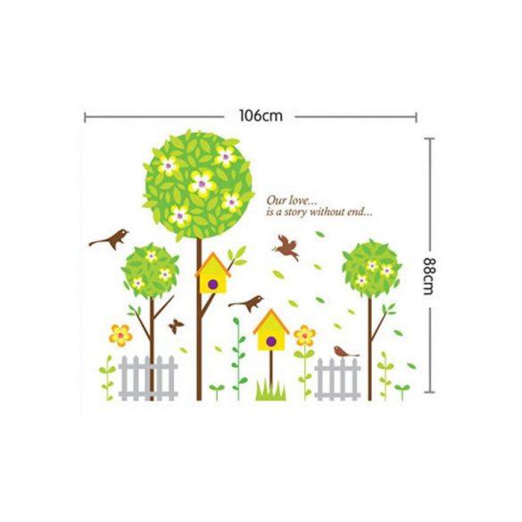 Sticker perete grădina liniştită