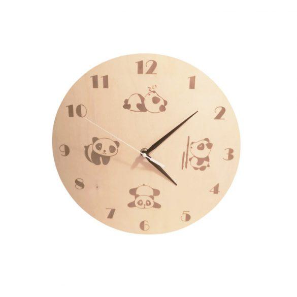 Ceas de perete cu panda