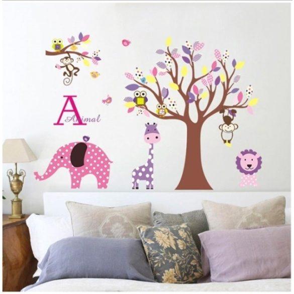 Grădina animăluțelor cu buline - sticker de perete