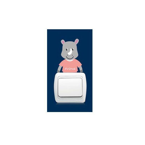 Pui micuți de animale – sticker de perete pentru întrerupător 17.