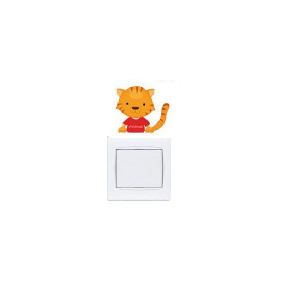 Pui micuți de animale – sticker de perete pentru întrerupător 5.