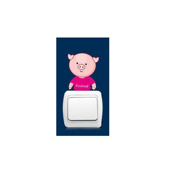 Pui micuți de animale – sticker de perete pentru întrerupător 9.
