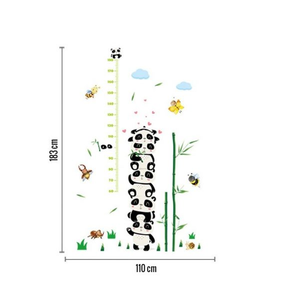 Măsurător de înălțime cu urși panda