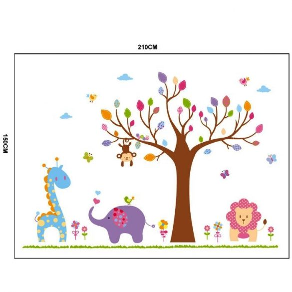 Copac pastel cu animale drăguţe