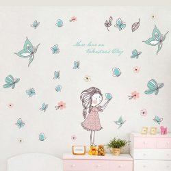 Prințesa fluturilor – sticker de perete