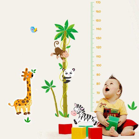 Sticker perete cu palmier pentru măsurarea înălţimii