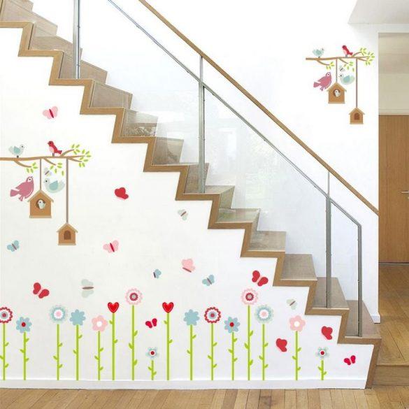 Sticker de perete cu hrănitoare pentru păsări