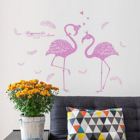 Sticker de perete flamingo roz