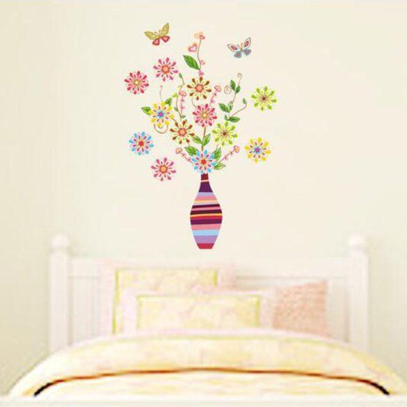 Sticker perete flori retro