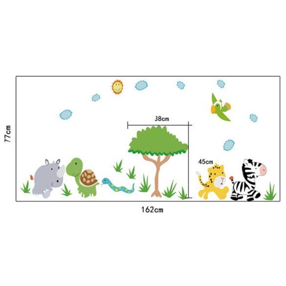 Sticker de perete cu animale din savană