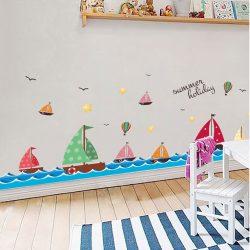 Sticker de perete cu navă cu vele