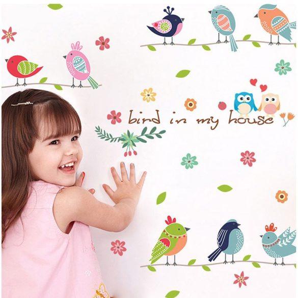 Păsări cântătoare de primăvară – sticker de perete
