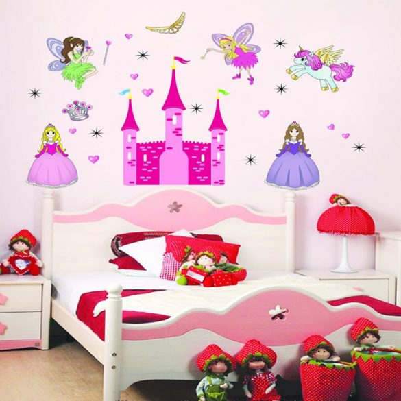 Sticker de perete palatul zânelor și prințesei