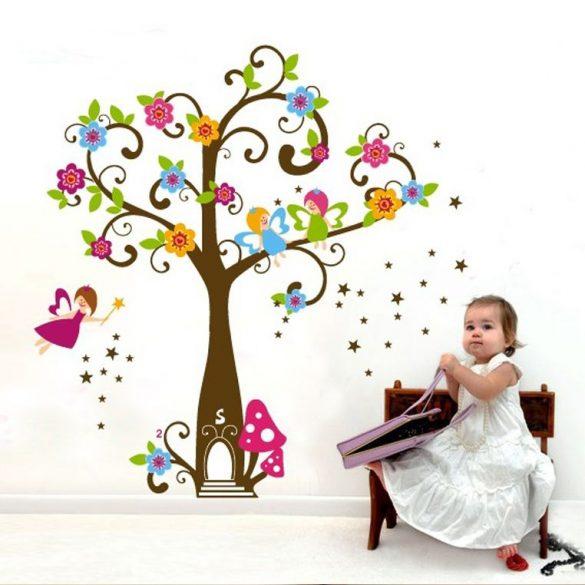 Sticker perete copacul magic cu flori al zânelor