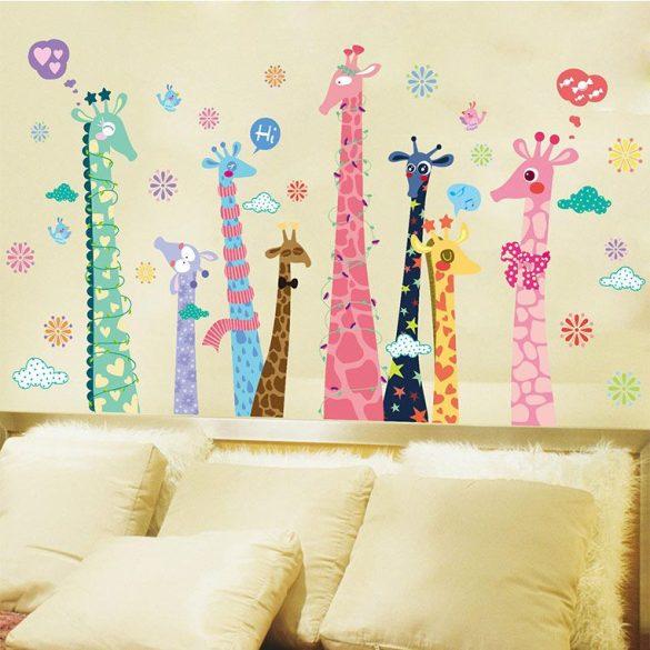 Sticker perete cu girafe
