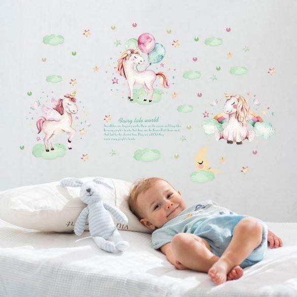 Sticker de perete unicorni