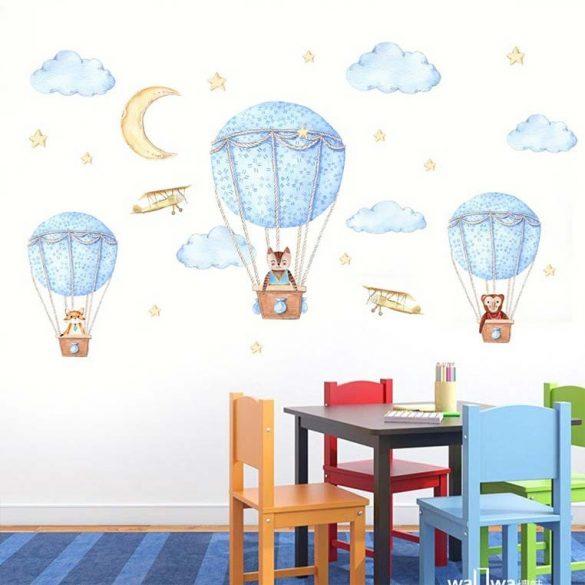 Sticker de perete călătorie cu balon cu aer cald