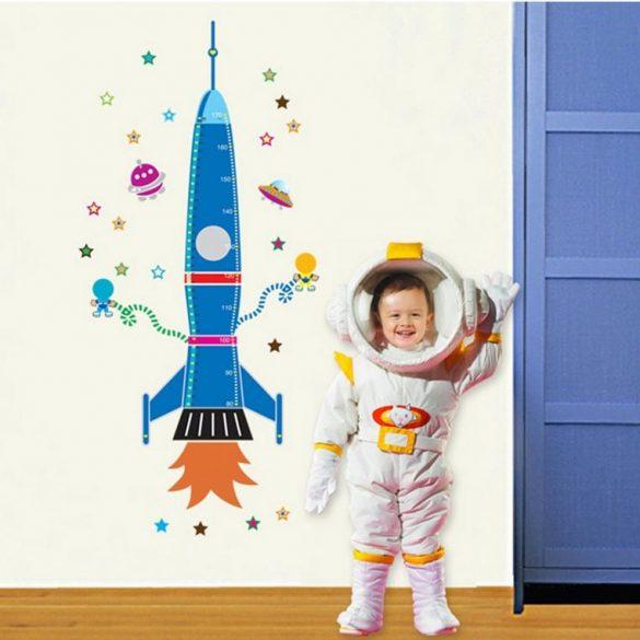 Sticker de perete rachetă cosmică