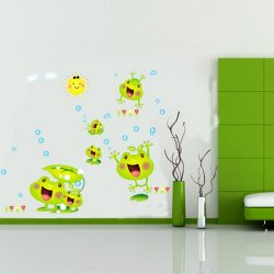 Sticker de perete cu familia veselă a broaştelor