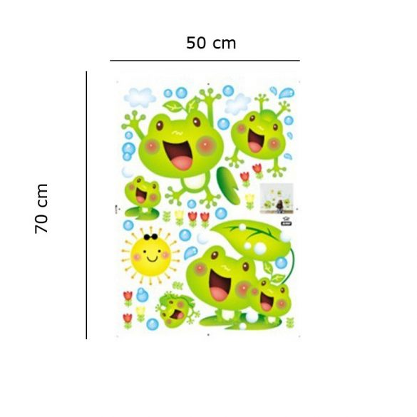 Sticker de perete cu familie veseli de broscuțe