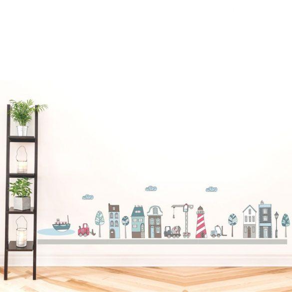 Construcții urbane cu macara și tractor