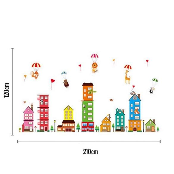 Sticker de perete parașuta de oraș