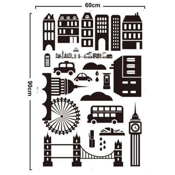 Sticker perete siluetă oraş