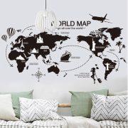 Sticker de perete cu harta lumii