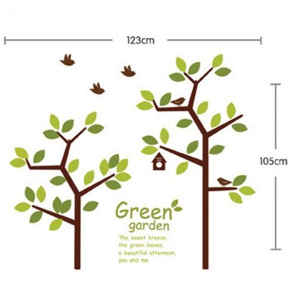 Sticker perete grădină înverzită