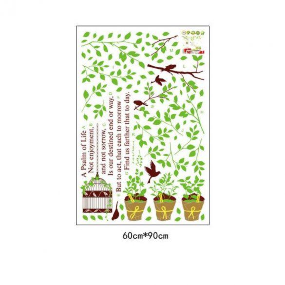 Sticker perete plante verzi